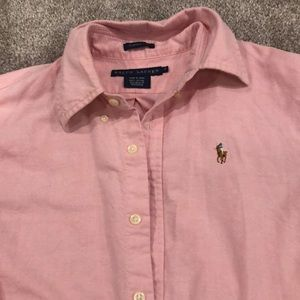 Ralph Lauren Oxford Polo Pink size 6